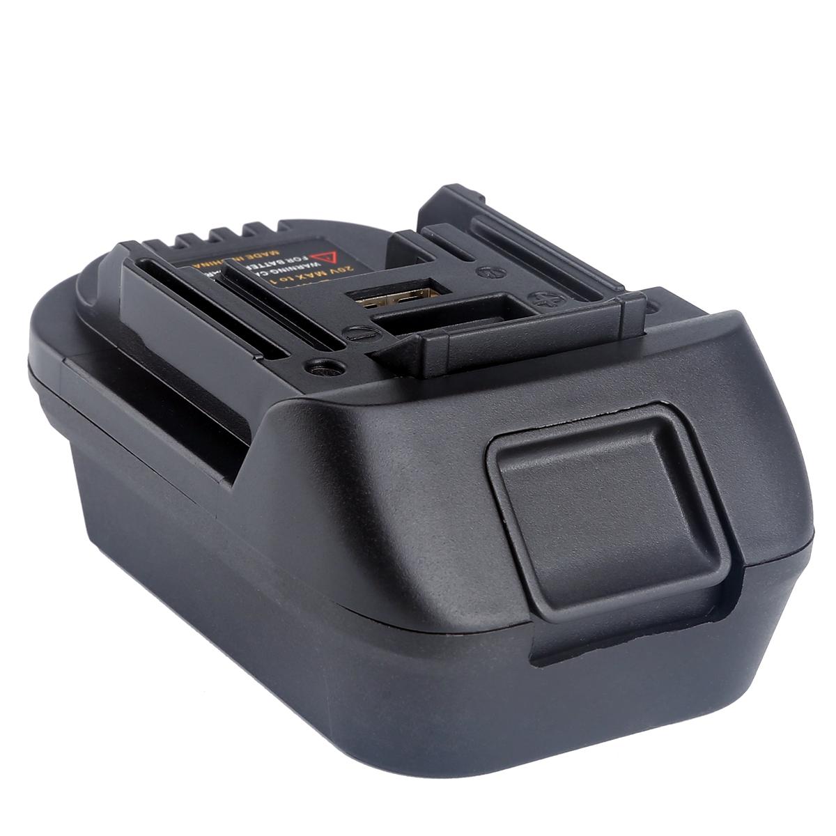 DM18M 20V Adaptador Conversor para DEWALT Li-Ion Bateria para MILWAUKEE Para Makita BL1830 BL1840 BL1850