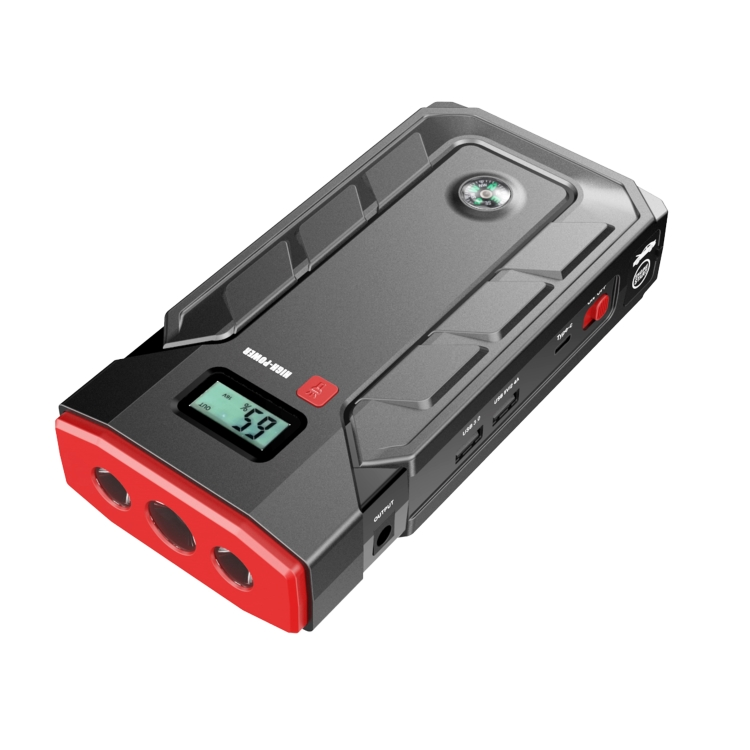 Ebattery OEM ODM Portable 12V car jump starter power bank with led air pump