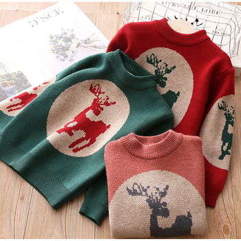 Boutique Kids Clothing Autumn Winter Clothes New Girls Round Neck Baby Girls' Kids Christmas Sweater