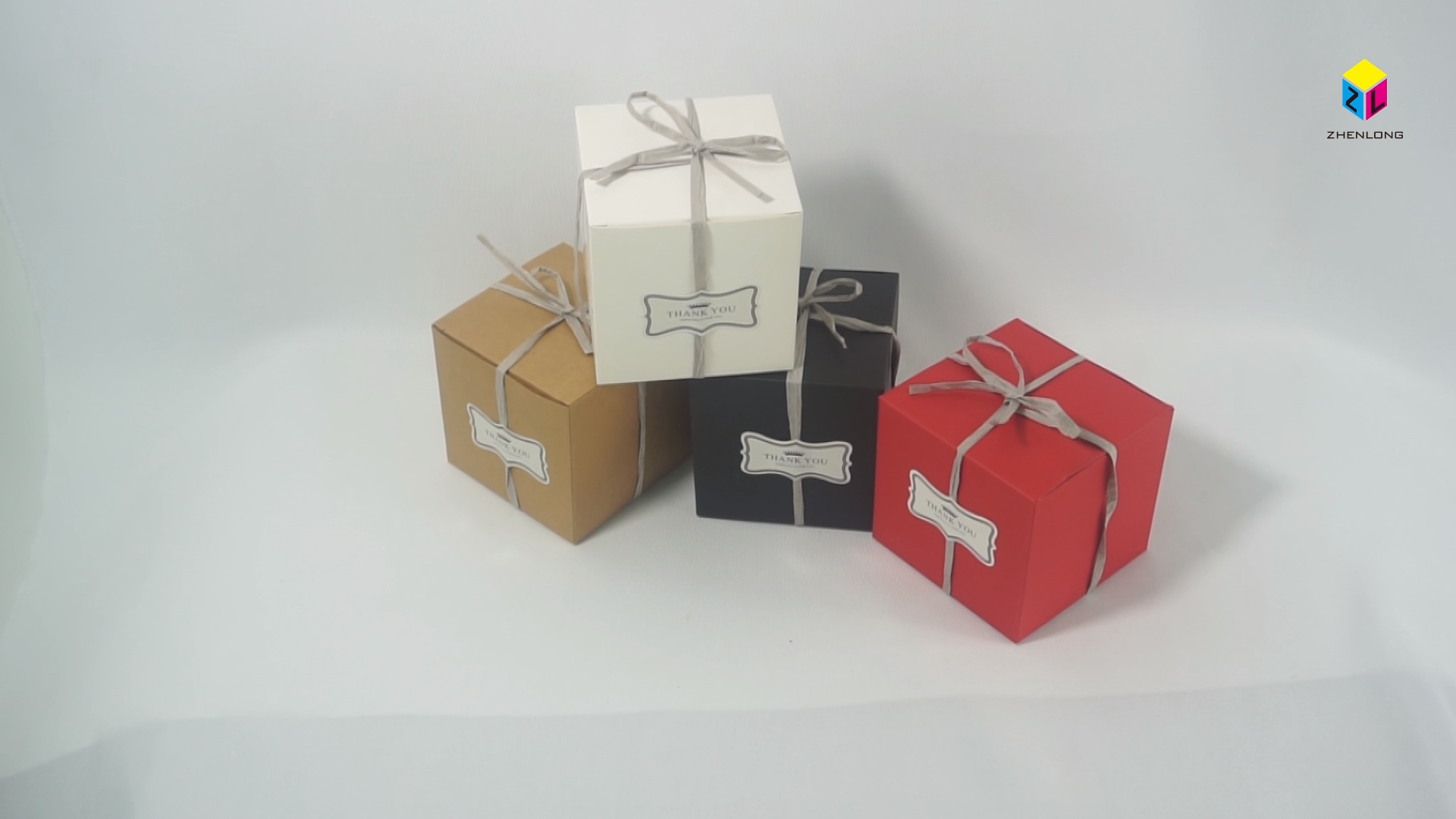 ZL özel baskı kağıdı gıda nedime düğün çerez çikolata noel boş karton Surpris şeker hediye kurdelalı kutu