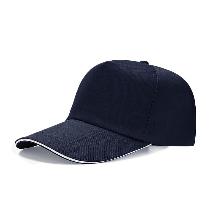 5 panel men custom personal logo sport baseball cap closed back cotton plain adjustable trucker snapback cap