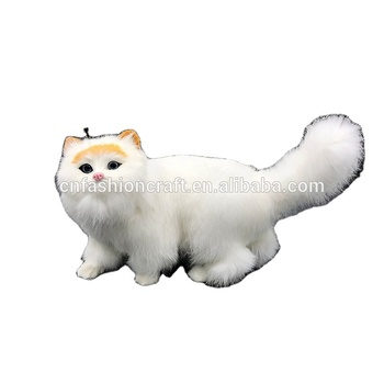 new rabbit fur animated handmade emulate cat real looking fashionable animals