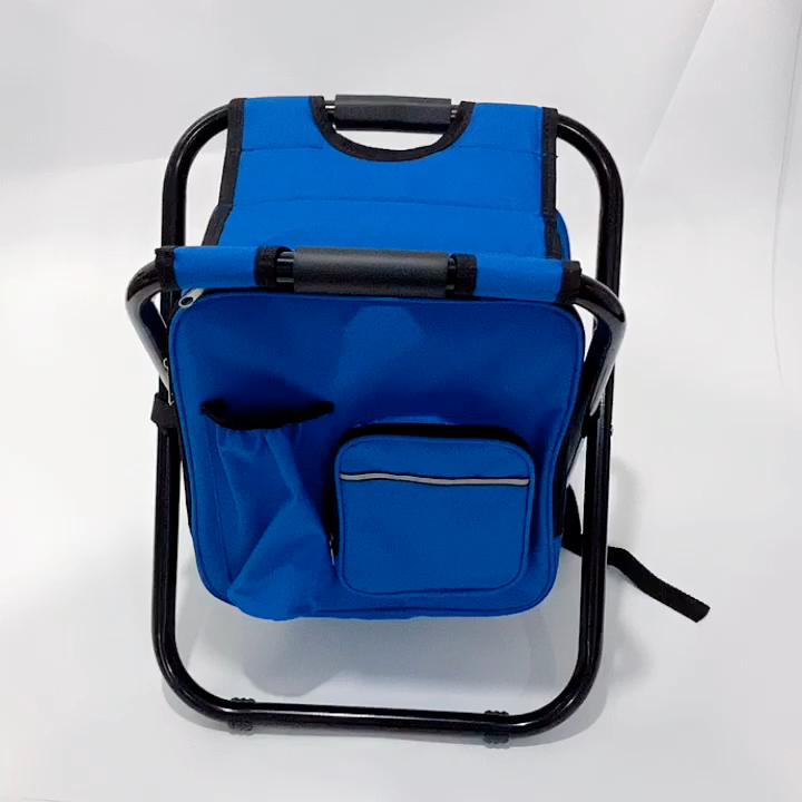 Un facile trasporto da pesca sedia pieghevole con il sacchetto più freddo utilizzando in estate
