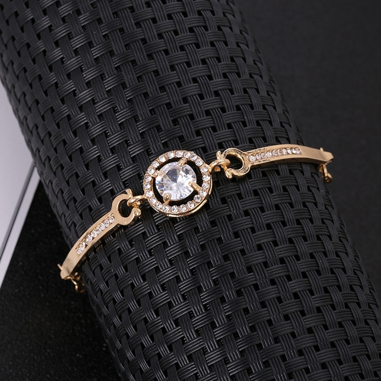 New fashion charm bangle bracelet round star moon zircon bracelet for girlfriend Valentine's Day gift