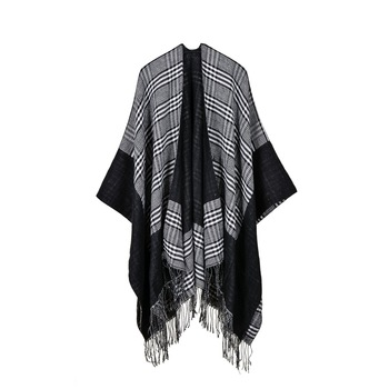 wholesale fashion Womens Ladies Cable Knit Wrap Shawl winter Soft Tassel Fringe Poncho Sweater scarfs and stoles shawls
