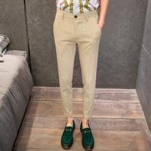 Мужские классические брюки в английском стиле, облегающие повседневные деловые брюки для свадьбы, брюки-панталоны черного цвета хаки, 2020(Китай)