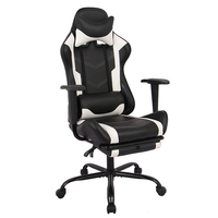 HENGLIN Cheap Office Furniture Leather Swivel Lift recliner Computer Gaming Chair With Extendable Footrest