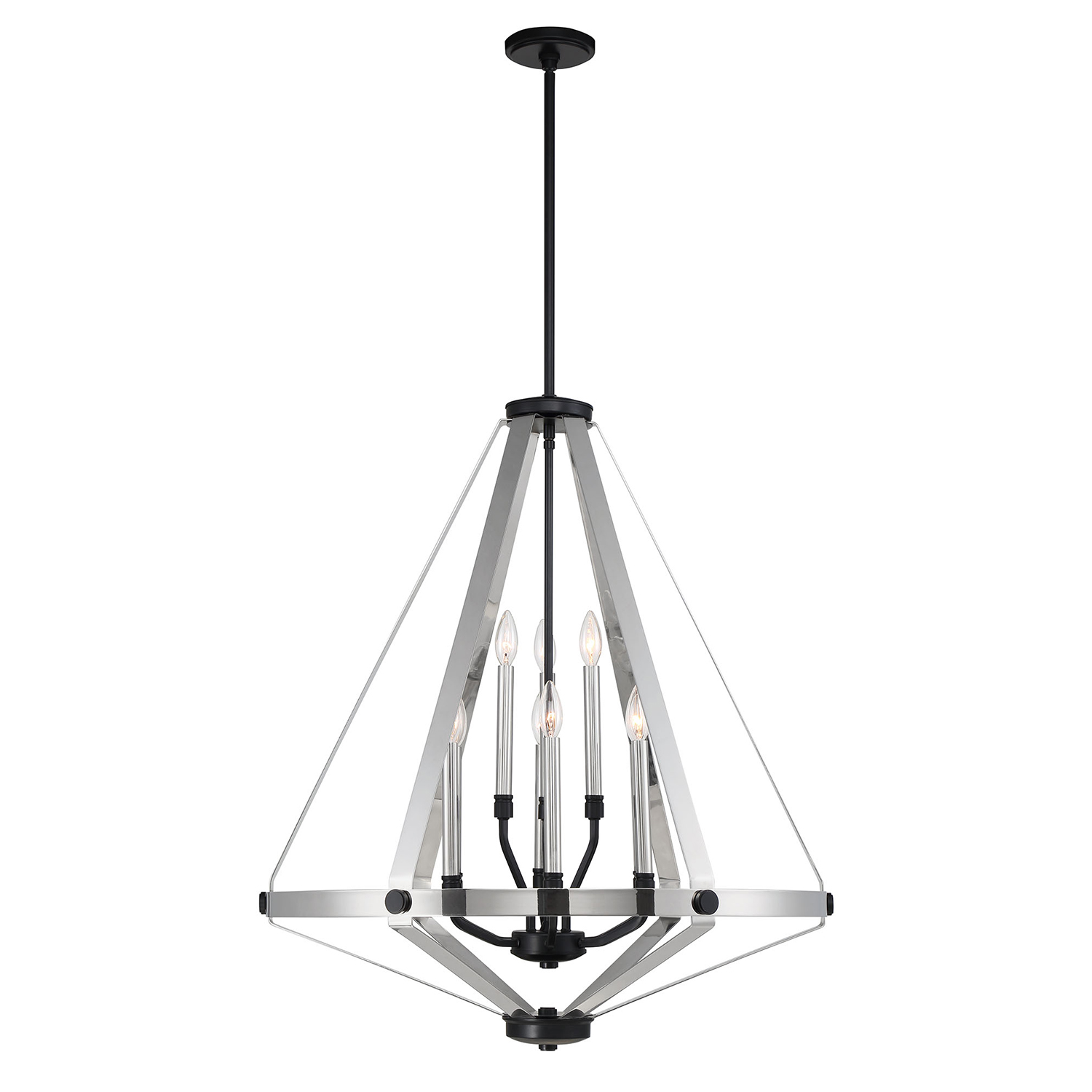 High-End Large Size 9 Lights Ceiling Pendant Modern Style Living Room Metal Chandelier High Quality