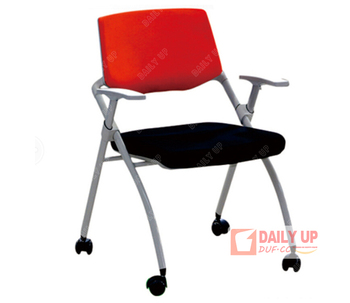 Metal Padded Folding Arm Chair With