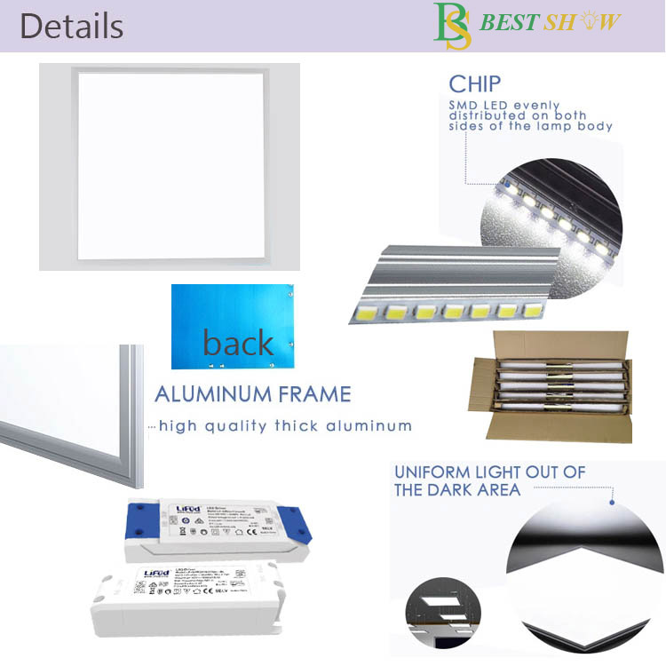 embedded led panel light 120x30 1200x300  60x120 120x60 60x30cm 625x625mm 620x620mm 230v pf0.9