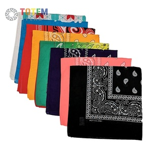 Top Quality 100% Cotton Promotion Gifts Customized Printing Colorful Square Bandana
