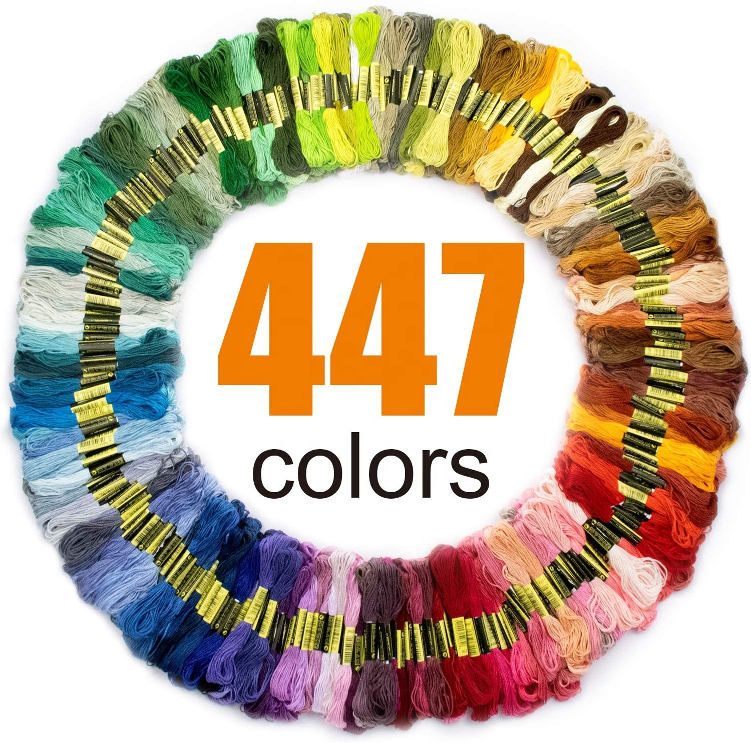 Premium Rainbow Color Embroidery Craft Floss Cotton Bracelet Yarn Cross Stitch Threads Set