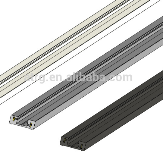 Patented design 2 wires DC power track power rail for LED strip lighting