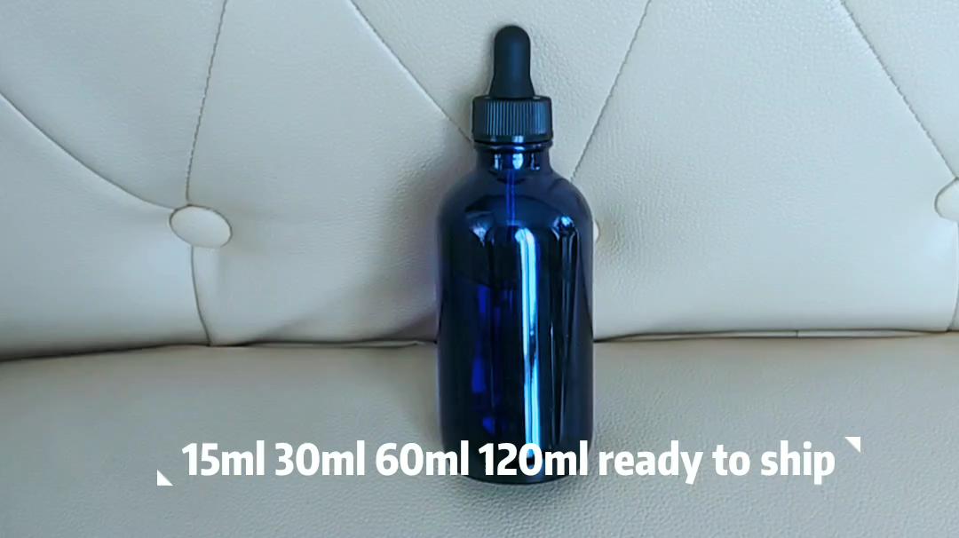 Bán buôn mỹ phẩm bao bì 15ml 20ml 30ml 60ml 120ml rõ ràng Frosted Glass ống nhỏ giọt tinh dầu chai với nắp màu trắng
