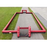 Red Inflatable Soccer Field Frame for Sale Inflatable Football Arena Pitch Soccer Fields Inflatable Football Goal Post