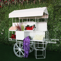 OEM garden wedding decorations large metal flower cart float Outdoor and indoor props