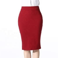 Wholesale Stretch Pencil Skirt Office Professional Design knitting skirt