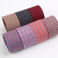 Intercolor Plaid Ribbon For DIY Bow Hair Decoration Double Sided Velvet Ribbon