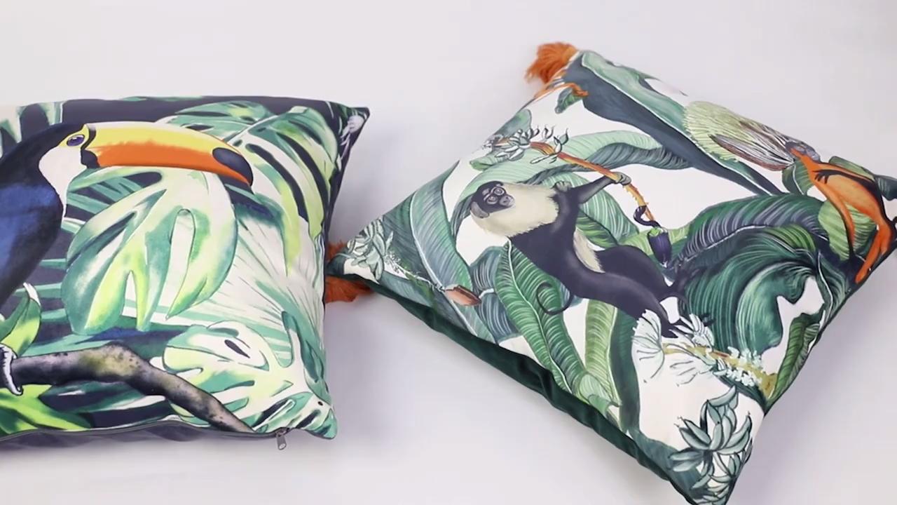 تصميم جديد قرد غطاء وسادة مطبوعة غطاء ، غطاء وسادة أريكة لغرفة المعيشة