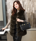 High Quality Fur Waistcoat Winter Fox Vest Knit Fox Fur Gilet