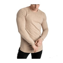 Custom Made Fitness Gym Compressie Sport Mannen Lange Mouw Sportkleding <span class=keywords><strong>T-shirt</strong></span>