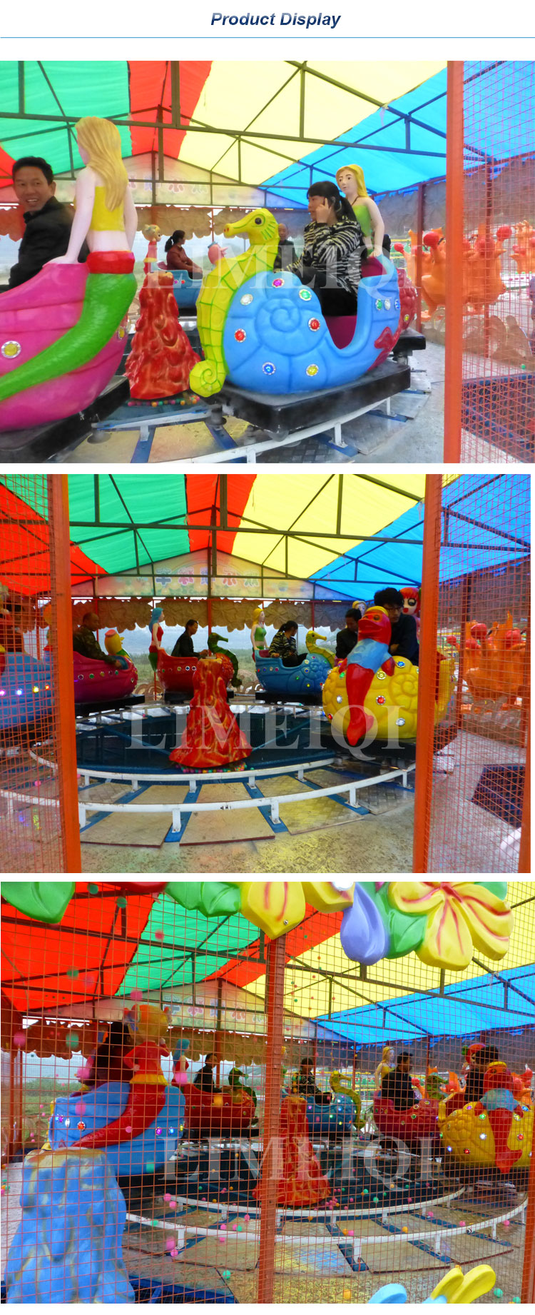 Indoor Amusement Park Rides Tourist Attraction Mini Train For Kids