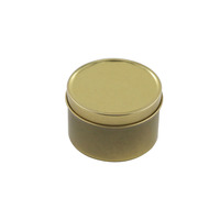 Candle Packaging Round Candle Metal Can Wax Gift Tin Box