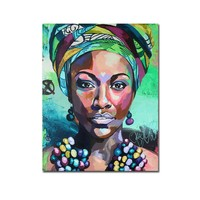 Best Selling African Beatiful Wall Art Canvas African Woman