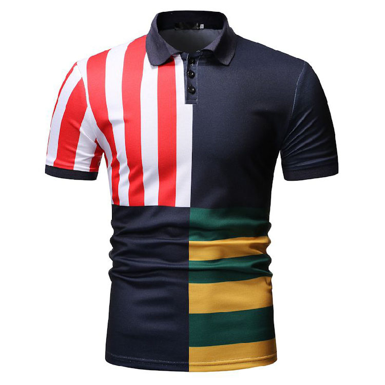 Wholesale Custom Many Styles Factory Uniform Color Block Polo Shirts