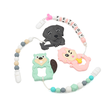 Rantai Dummy Teether <span class=keywords><strong>Silikon</strong></span> Manik Bayi Dot <span class=keywords><strong>Klip</strong></span>