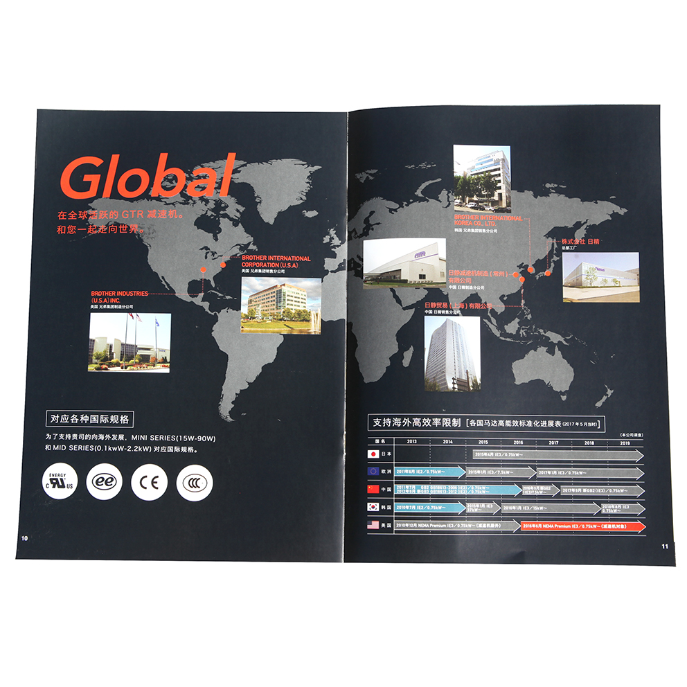 Hot Sale Full Color Electronic Catalog Manual Printing