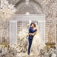 2019 wedding stage decoration large wedding metal backdrop arch for sale