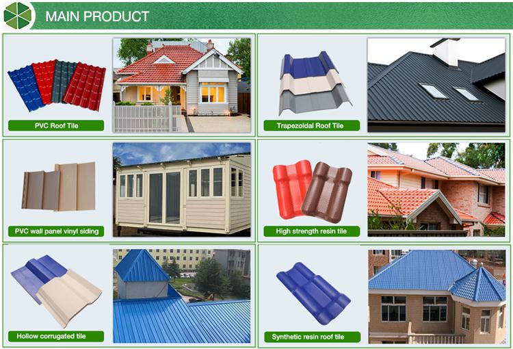 Hollow corrugated twinwall synthetic resin Roof Tile