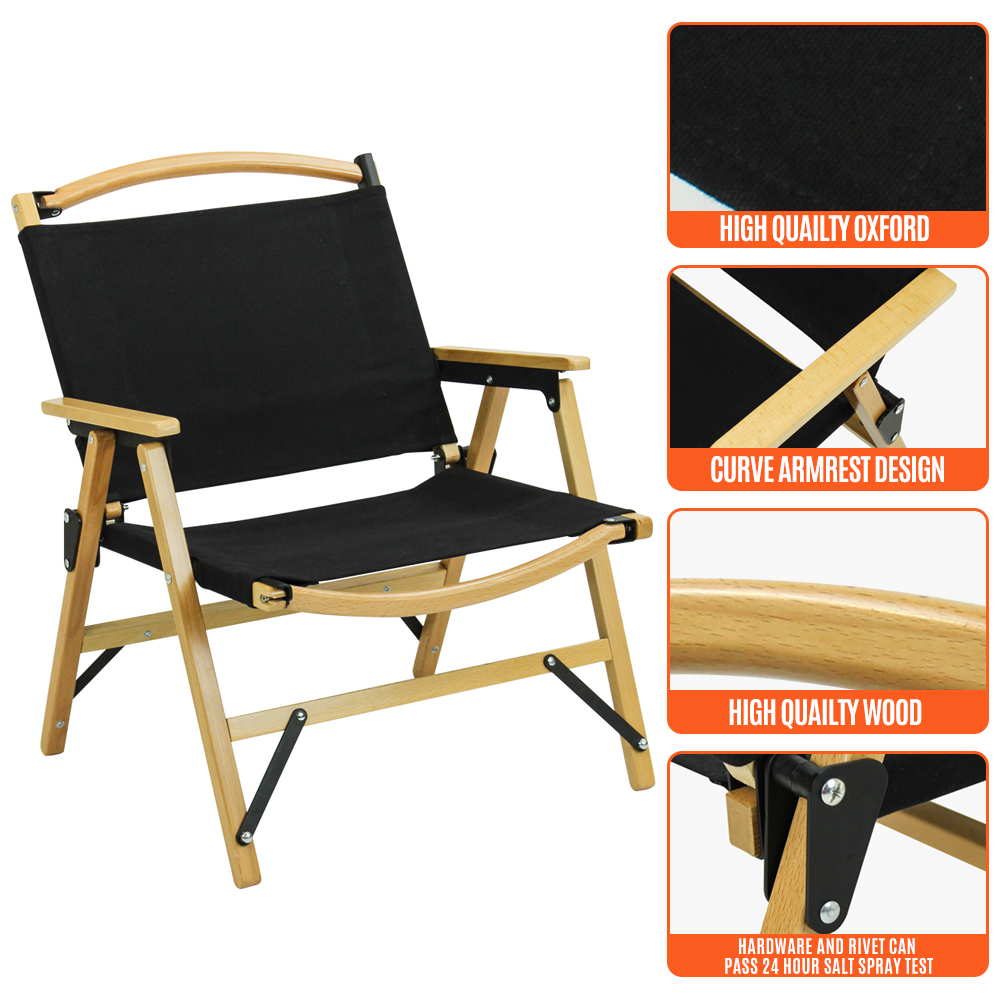 Tianye camping combined canvas wooden leisure lawn kermit chair