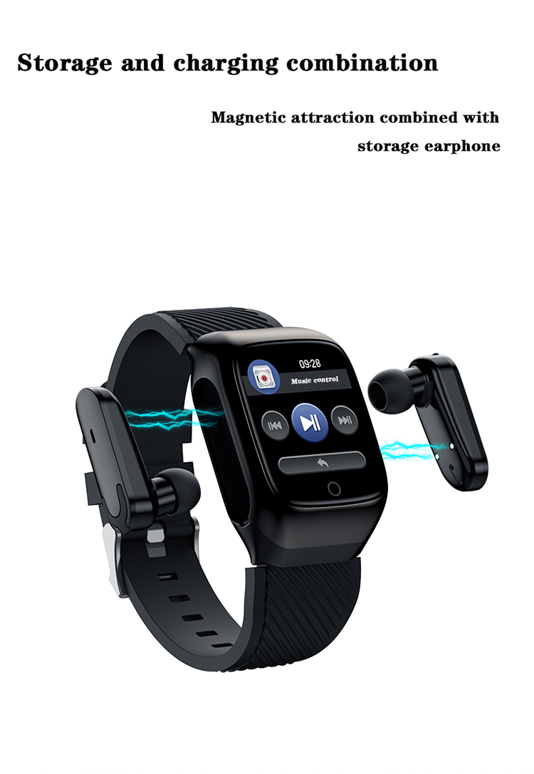 New 2020 Health Wristband Earphones & Headphones S300 Smart Watch with Headset