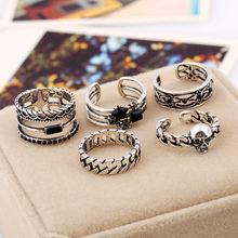 5 шт., Ретро стиль, полое кольцо для мужчин, ювелирные изделия, открытие, обручальное кольцо, Женские аксессуары, мужские кольца в стиле панк, ...(Китай)