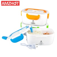 B10-0850 Wholesale 110V/220V 1.05L Plastic Portable Tiffin Bento Thermo Electric Food Warmer Lunch box