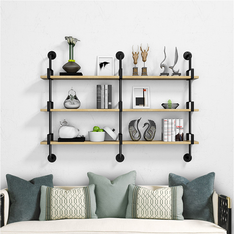 Antique Industrial Wall Mount metal Iron Pipe <strong>Shelf</strong> bookcase Vintage Retro DIY Bookshelf home Storage floating wall <strong>shelf</strong>