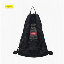Яркий цвет, прозрачный сетчатый пляжный рюкзак на плечо для девочек-подростков, летняя складная сумка для плавания, женская сумка для хране...(Китай)
