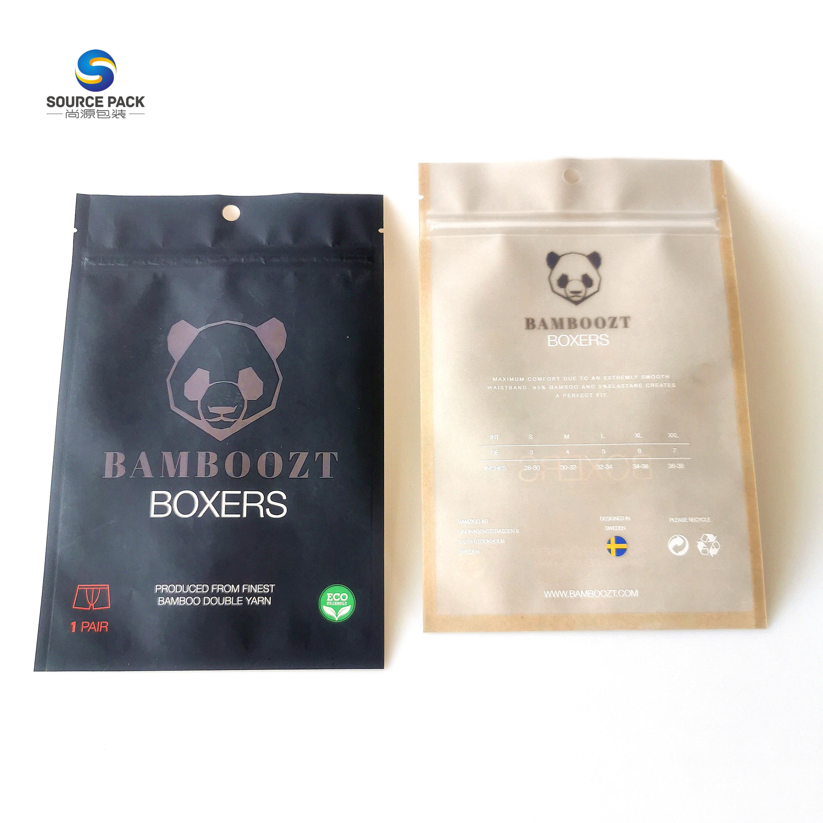 100% биоразлагаемые коричневые бумажные мешки для одежды стоьте вверх бумажный мешочек для чая