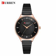 CURREN часы женские брендовые роскошные женские часы кварцевые женские часы с ремешком из нержавеющей стали модные наручные женские наручные ...(Китай)