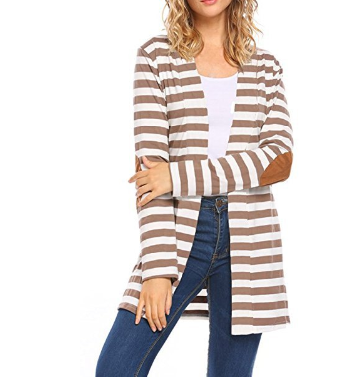 Wholesale Women's Autumn lightweight Stripe Cardigan