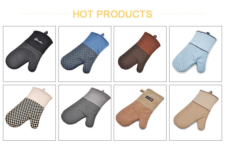 Offre Spéciale qualité supérieure bas prix résistant à la chaleur cuisine cuisson barbecue utilisation industrielle Silicone four mitaine gants