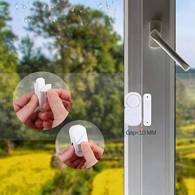 ระบบเตือนภัยรักษาความปลอดภัยภายในบ้าน,สัญญาณกันขโมยเข้าหน้าต่างประตูบ้านไร้สายพร้อมเซ็นเซอร์แม่เหล็ก
