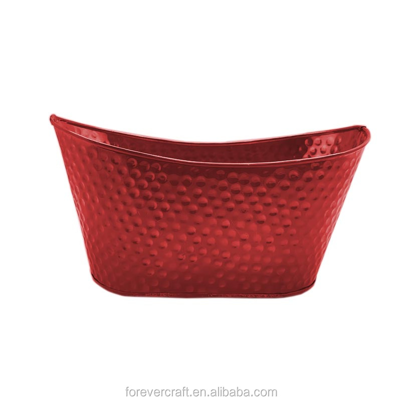 High quality Metal oval basket organizer baskets iron gift bucket