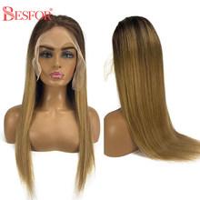 Парики из натуральных волос на кружевном фронте, Омбре, 13х6, кружевные передние парики, накладные волосы для женщин(Китай)