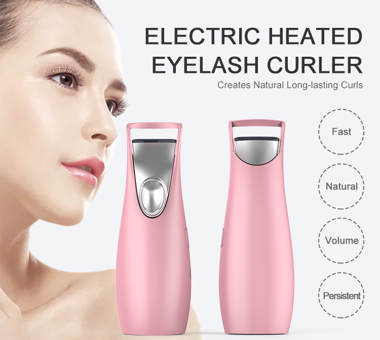Wholesale rechargeable mini USB electric heated eyelash curler