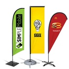 Outdoor [ Flying Flag Feather ] Flying Promotional Flags Custom Printing Outdoor Advertising Promotion Flying Teardrop Flag Feather Flag