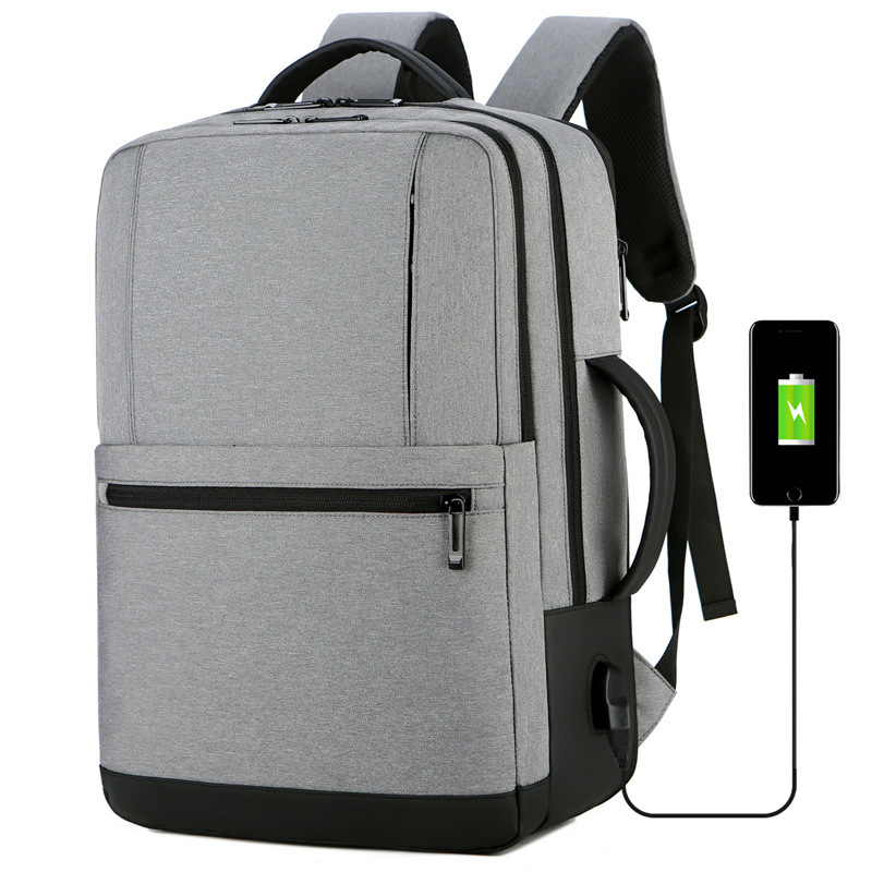 Large-capacity expandable travel backpack Cross-border new usb multi-function waterproof business men's computer backpack