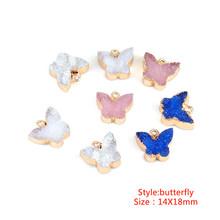 Lacoogh 5 шт. подвески из сплава и смолы с бабочкой и луной, подвески для браслетов, Подвески для изготовления ювелирных изделий(Китай)